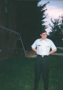 At Basic Training graduation - July 2001