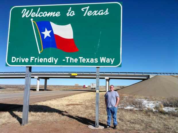 A quick stop through the panhandle of Texas is still enough for a picture opportunity