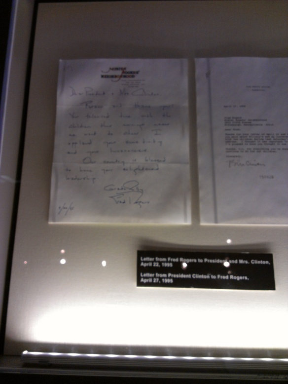 Letter from Fred Rogers to President Clinton