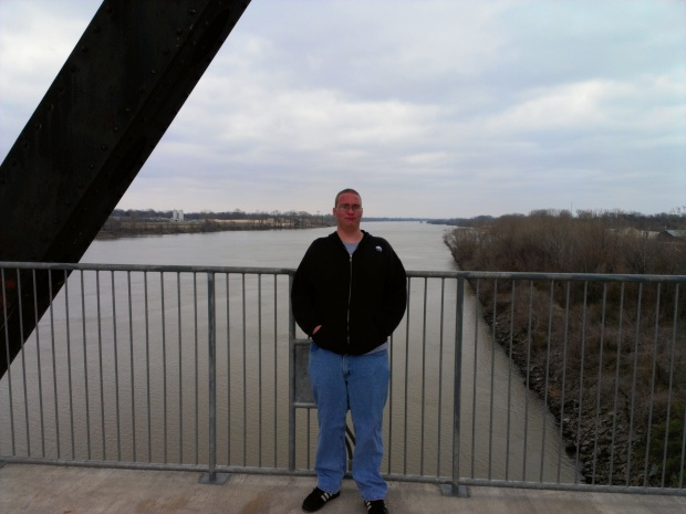 Arkansas River bridge by the Clinton Library