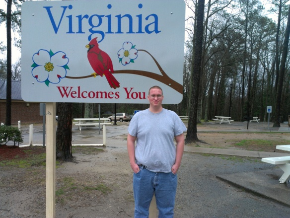The Commonwealth of Virginia. Never been south of Alexandria. How exciting!